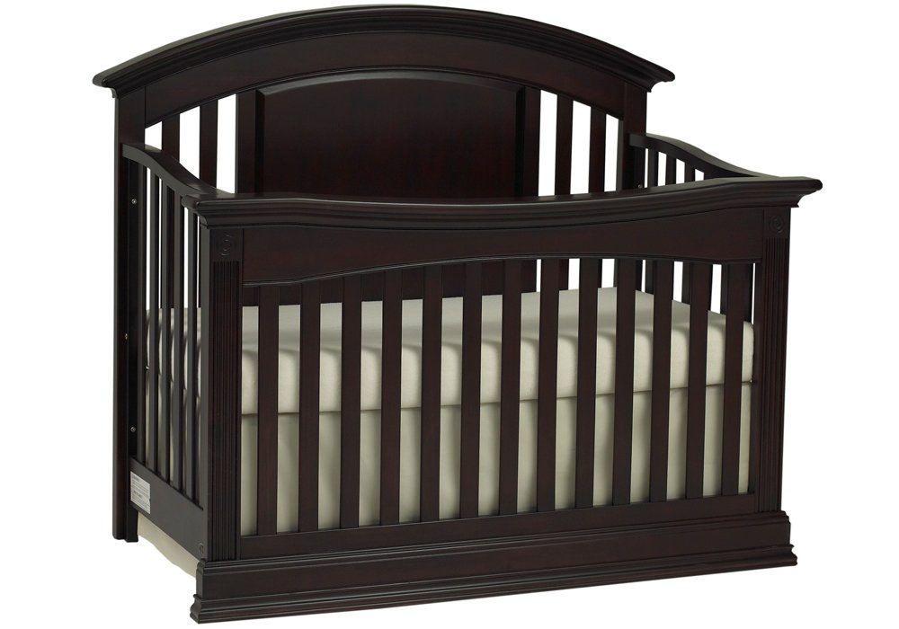 Full Size Conversion Kit Bed Rails for Baby Cache Montana Crib - White