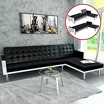Amazon.com: Futon Fabric Upholstery Sofa Bed Convertible ...