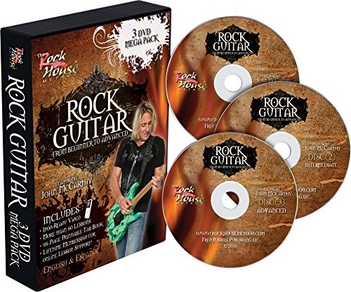 Rock House Learn Rock Guitar: Beginner, Intermediate, and Advanced (3-DVD (Advanced Rock Guitar Dvd)