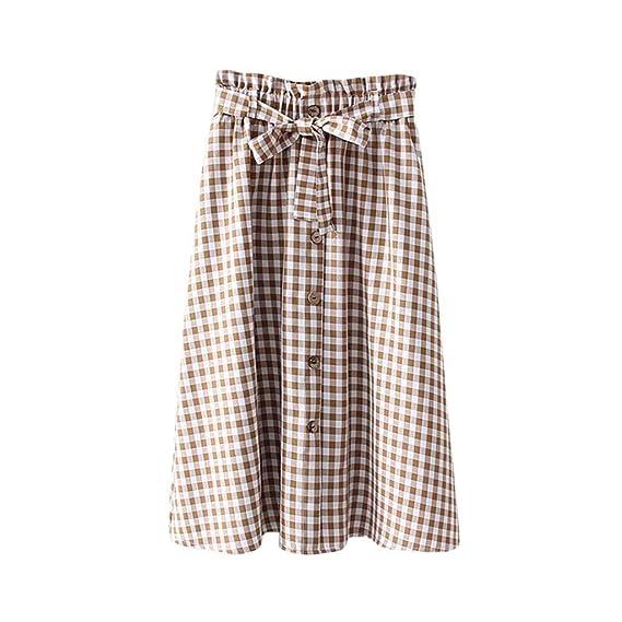 Sylar Faldas Plisadas Mujer Midi Falda De Longitud Media Estampado ...