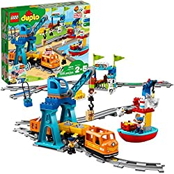 LEGO DUPLO Cargo Train 10875 Battery-Operated Building Blocks Set, Best Engineering and STEM Toy for Toddlers (105 Pieces) (Amazon Exclusive)