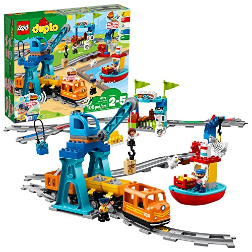 LEGO DUPLO Cargo Train 10875 Battery-Operated Building Blocks Set, Best Engineering and STEM Toy for Toddlers (105 Pieces) (Amazon Exclusive) (List Of All Thomas Take N Play Trains)