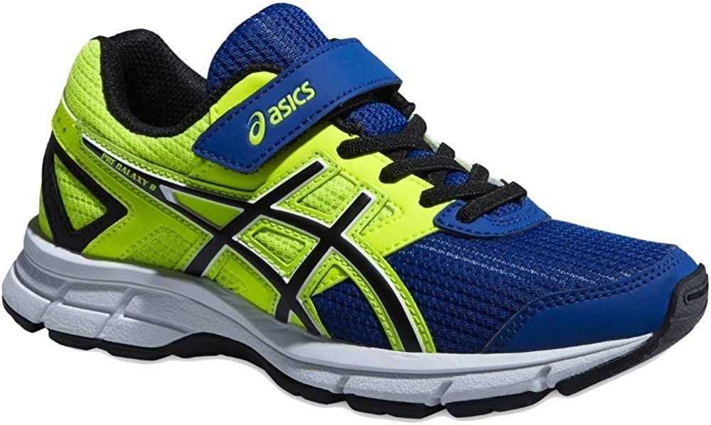 Asics Pre Galaxy 8 PS - Zapatillas de running para niño, color azul / amarillo / blanco / negro, Azul / Negro / Amarillo, 35: Amazon.es: Zapatos y complementos