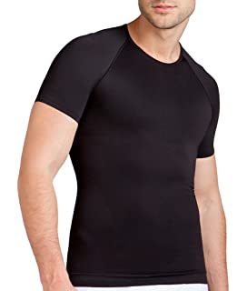 Activewear Tops Men's Clothing Spanx Mens Black Zoned Performance Compression T Shirt Large Excellent Non-Ironing