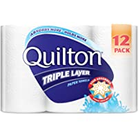 Quilton 3 Ply White Paper Towel, 12 count