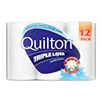 Quilton 3 Ply White Paper Towel, Pack of 12
