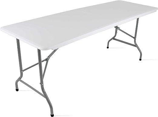Mobeventpro Table Pliante De Camping 180x70x74 Cm Blanc