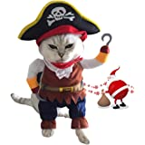 XinqiMon Cat Costume Pirate Pet Party Costume for Small to Medium Dogs Cats Kitty