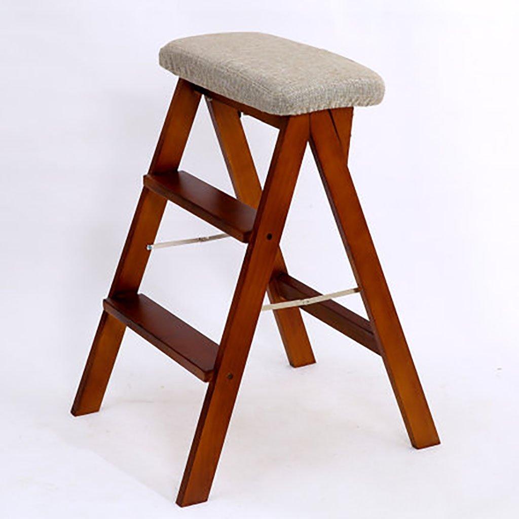 ステップスツールソリッドウッド家庭用はしご折りたたみラダーシェルフ木製はしごラダー多機能屋内家庭用小さなはしごを昇る (色 : S s) B07FNB89HW S s S s
