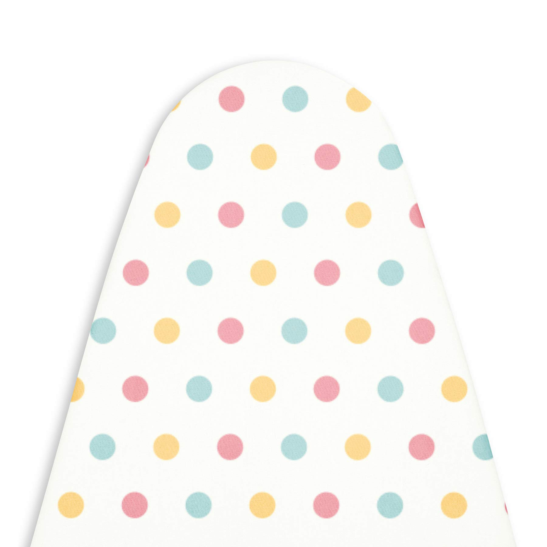 Encasa Homes Ironing Board Cover with 3mm Thick Felt Pad for Steam Press (Fits Standard Large Boards of 122 x 38 cm) Heat Reflective, Scorch & Stain Resistant, Printed - Polka Dot (B06XR8WGHT) Amazon Price History, Amazon Price Tracker