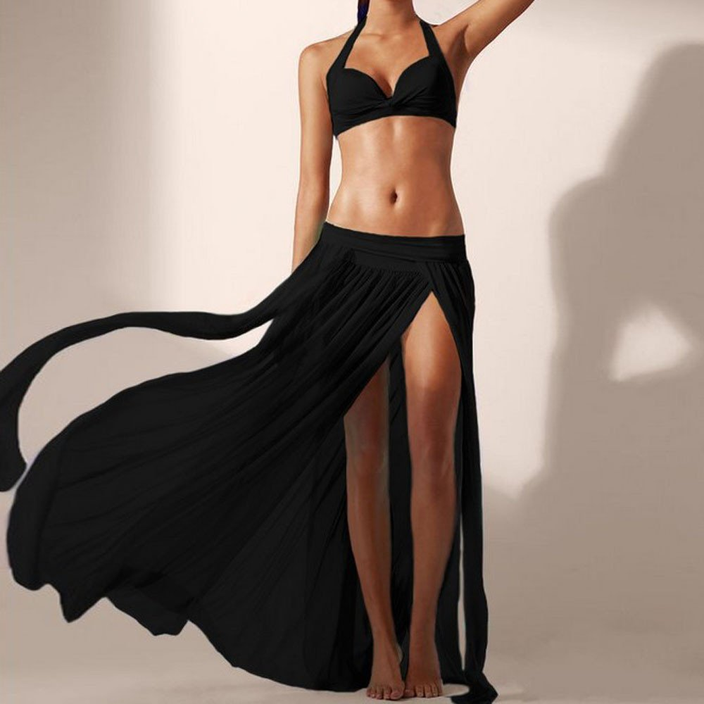 MERICAL Mujer Moda de Verano Sexy Boho Chiffon High Split Long ...