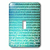 3dRose Uta Naumann Faux Glitter Pattern - Sparkling Teal Luxury Elegant Mermaid Sea Ocean Waves - Light Switch Covers - single toggle switch (lsp_272858_1)
