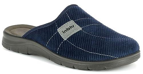 costruzione razionale diversamente vasta gamma di INBLU pantofole ciabatte da uomo INVERNALI mod. BG-14 blu ...