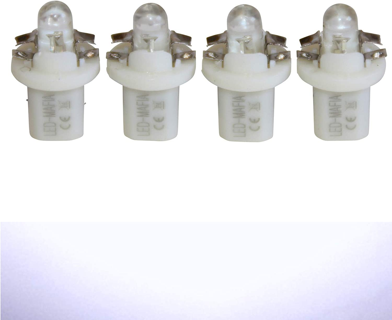 LED-Mafia 4X Halogen Round Heat Tachobeleuchtung Set Cockpitbeleuchtung wei/ß blau rot Cockpit j rot