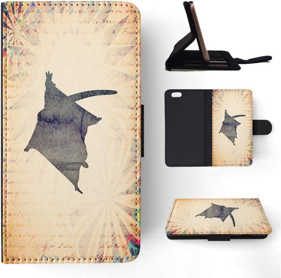 Foxercases Design (2020) Sugar Glider Australian Animal Flip Wallet Phone Case Cover for Apple iPhone 6 / 6S
