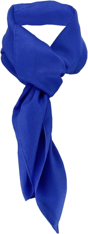 90 cm x 90 cm TigerTie Chiffon Halstuch verschiedene Farben Uni Gr