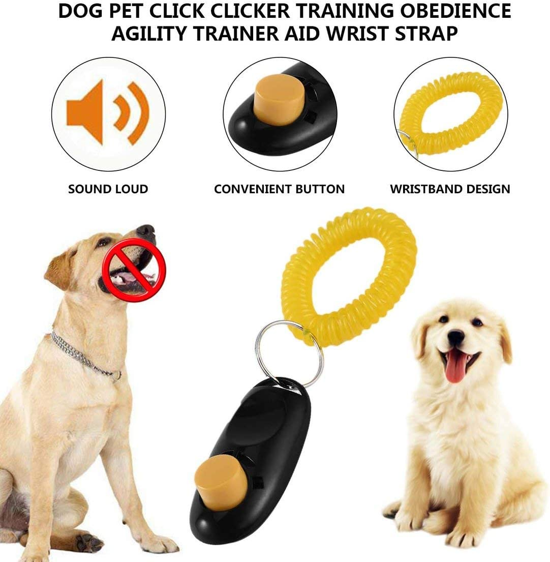 Jessicadaphne Dog Pet Click Clicker Training Obedience Agility Trainer Aid Wrist Strap Great for training Obedience//HTM//Agility Pet Supplies