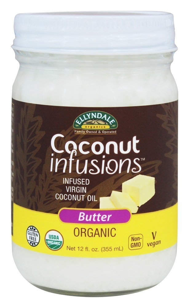 NOW Foods Ellyndale Organics Coconut Infusions Non-Dairy Butter Flavor, 12 Ounce