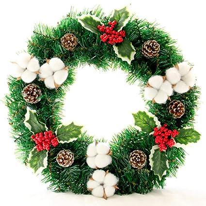 christmas artificial christmas wreath for home decoration xmas tree hanging decor 3 types artificial