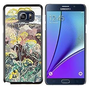 TECHCASE---Cubierta de la caja de protección para la piel dura ** Samsung Galaxy Note 5 ** --Plantas Flores Pintura Arte