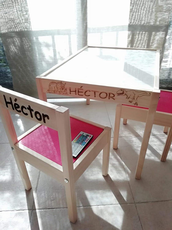 Mesa de luz Montessori RGBW 64x48cm: Amazon.es: Handmade