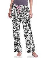 Secret Treasures Womens Flannel Sleep Pants - Arctic White Leopard