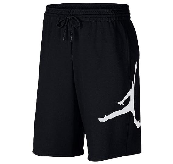 ccebb23fede2 Nike Mens Jumpman Air Fleece Sweat Shorts Black White AQ3115-010 Size Small