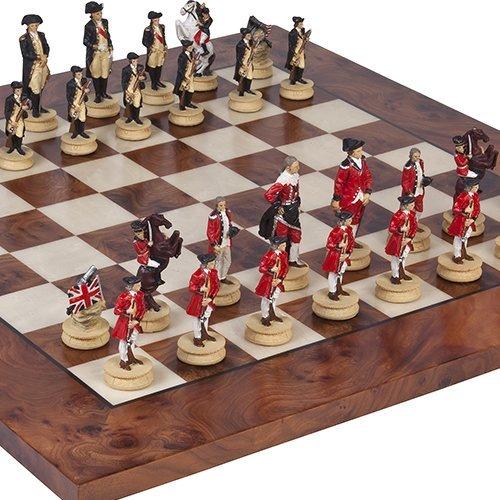売上実績NO.1 アメリカ独立戦争の戦争Chessmen B00E37U9U2 & Agostino 1 Luxuryチェスボードfrom Italy。King : 3 1 8。」/ 8。」 B00E37U9U2, T-smile:02fe730f --- arianechie.dominiotemporario.com