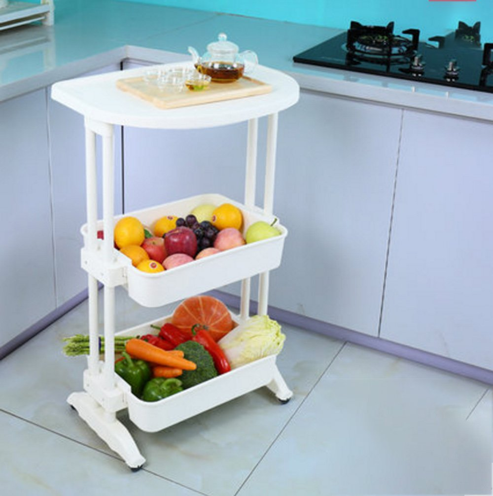 Hyun times Kitchen Utensils Shelf Floor 3 Floors Oven Rack Supplies Pot Racks Kitchen Organizer Racks