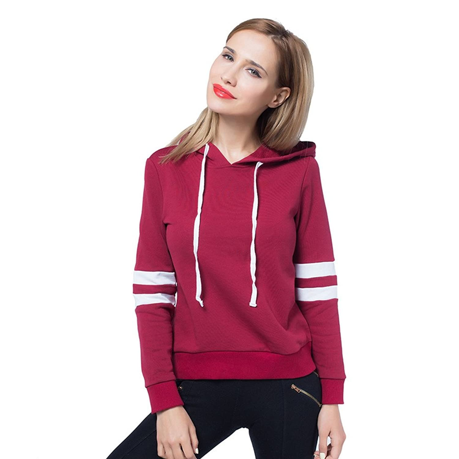 Abaobao Long Sleeve Hoodies for Women and Girls, Womens Cotton Pullover  Fashion Tops Clothing Supreme