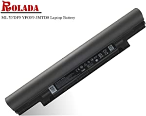 ROLADA YFDF9 5MTD8 Notebook Battery Replacement for Dell Latitude 3340 3350, V131 2 Series; JR6XC YFOF9 Laptop Batteries-11.1V 65Wh