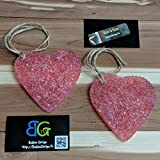 Butt Naked scented Large Pink Heart Automotive Car Freshener - Two Pack
