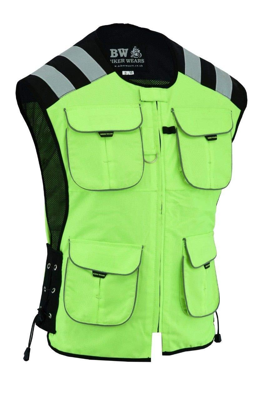 Gilet di sicurezza da uomo Biker Wears Limited Hiviz ad alta visibilit/à impermeabile