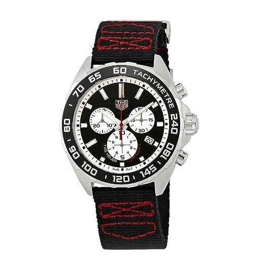 TAG Heuer Reloj de Hombre Cuarzo Suizo Correa de Nylon CAZ101E.FC8228: Amazon.es: Relojes