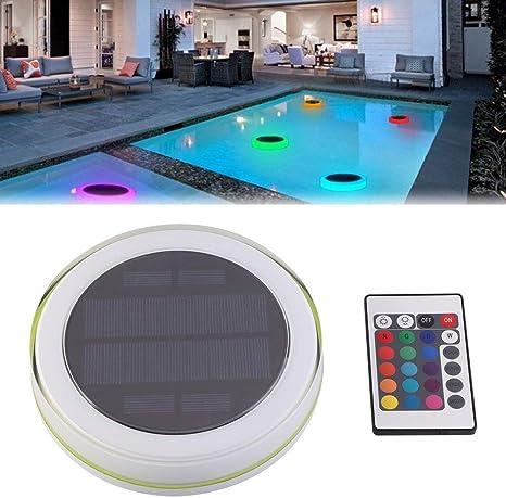 FidgetGear - Mando a Distancia Flotante para Piscina con luz LED RGB bajo el Agua: Amazon.es: Hogar