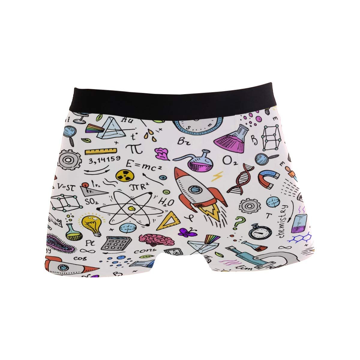 ZZKKO Physical Formula Mens Boxer Briefs Underwear Breathable Stretch Boxer Trunk with Pouch S-XL