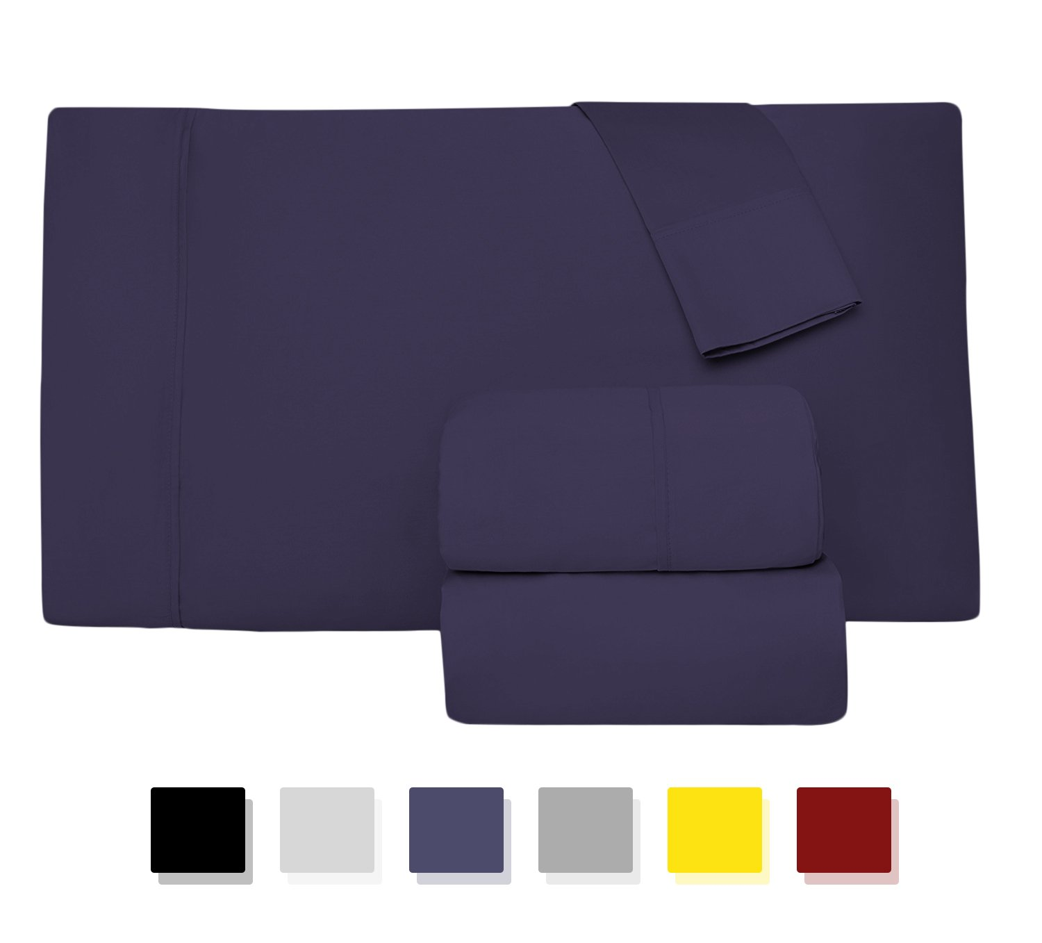 Thread Spread Hotel Collection 600 Thread Count Egyptian Cotton Sateen 4 Piece Sheet Set COMIN18JU046573 King Pillow Case Pair, White