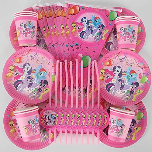 70 piezas de suministros de fiesta de cumpleaños My Little ...