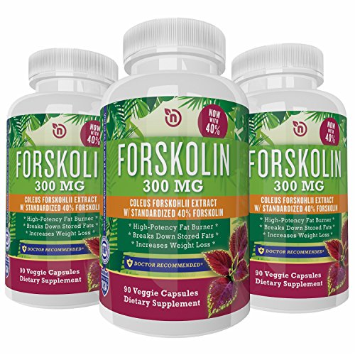 Pure Forskolin Weight Loss Supplement Organic Coleus Forskohlii Root Extract Boost Energy Enhance Metabolism Fat Burner Effective Diet Pill To Reduce Waist Increase Lean Muscle Potent Slimming Formula