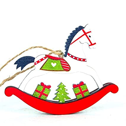 Christmas Horse Cartoon.Amazon Com Cartoon Hanging Decorations Christmas Tree