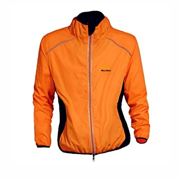 0161a2b5d WOLFBIKE Cycling Jersey Men Riding Breathable Jacket Cycle Clothing Bicycle  Long Sleeve Wind Coat (Orange
