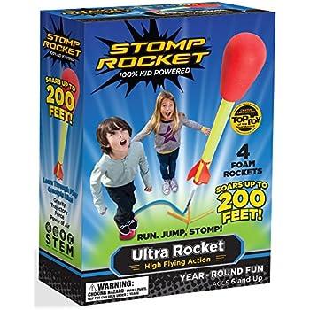Stomp Rocket Ultra Rocket, 4 Rockets [Packaging May Vary]