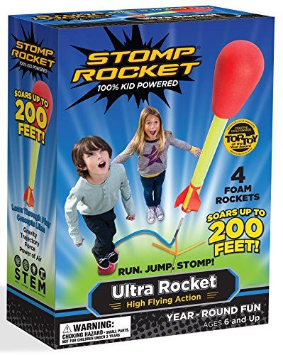 Stomp Rocket Ultra Rocket, 4 Rockets [Packaging May (Stomp Rocket)