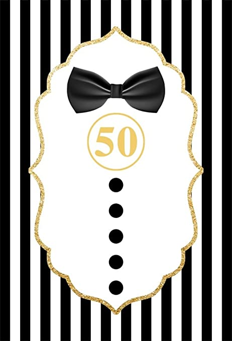 LFEEY 6x9ft Happy 50th Birthday Backdrops For Photography Men Adults Fathers Fift Y Years Old