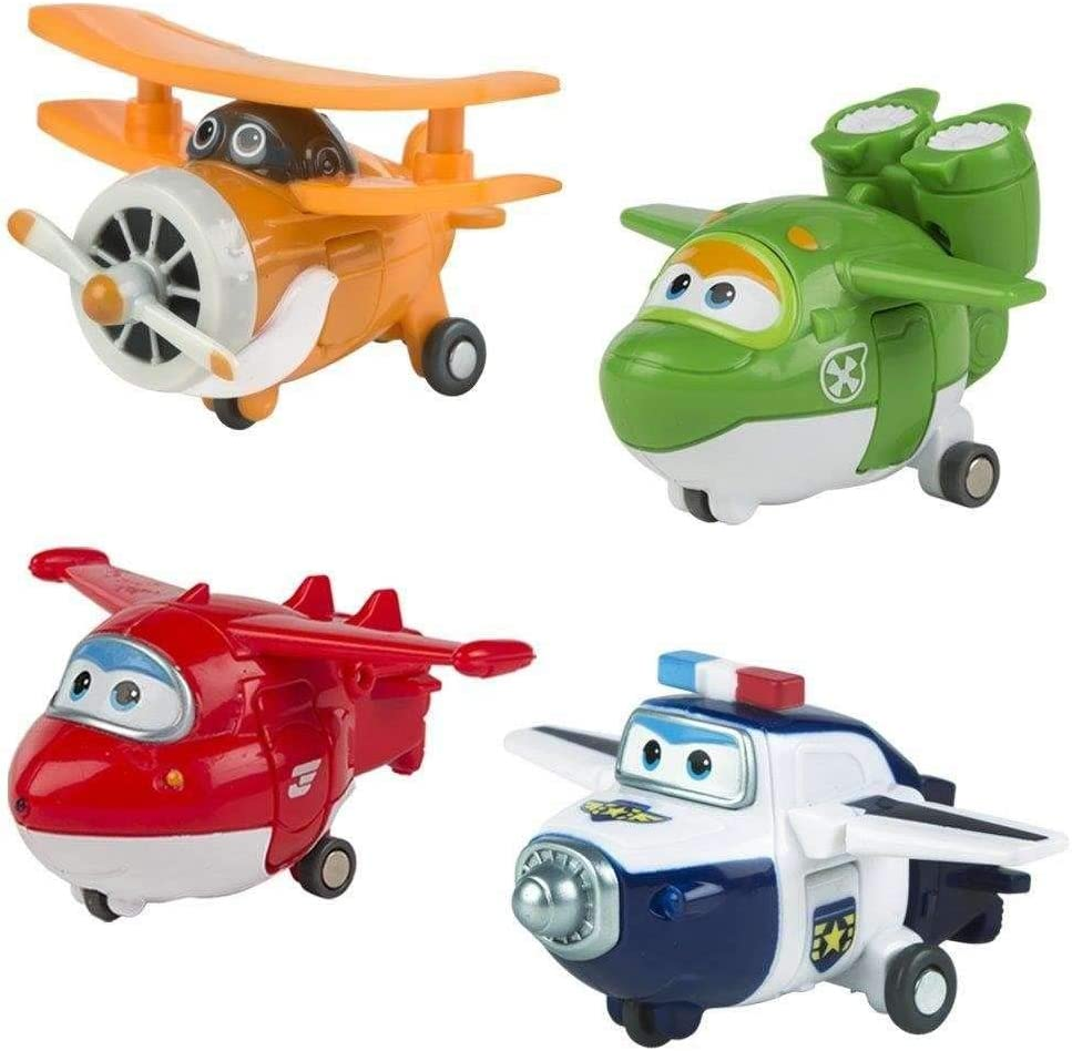 Color Baby - Super Wings - Dizzy, Donnie, Jerome, Bello - Pack 4 Transform-a-Bots: Amazon.es: Juguetes y juegos