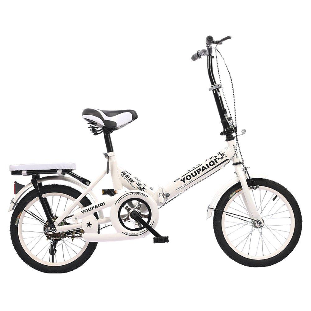 学生折りたたみ自転車, 子供用折りたたみ自転車 折りたたみバイク子供 学生 高齢者の ≥8 の子供たち B07DK6K8KX 20inch|ホワイトA ホワイトA 20inch