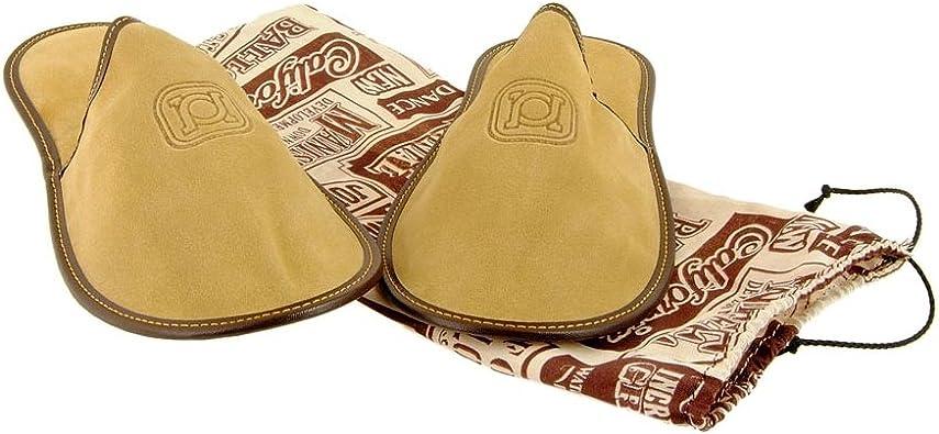 Zapatillas de viaje en piel serraje con funda de tela Talla: M Color: ARENA: Amazon.es: Zapatos y complementos
