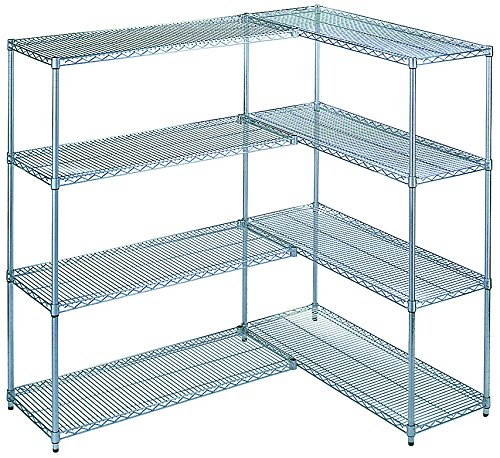 Wesco Industrial Products 272731 Chrome Plated Wire Shelving Add-On Kit, 2400 Pound Capacity, 48