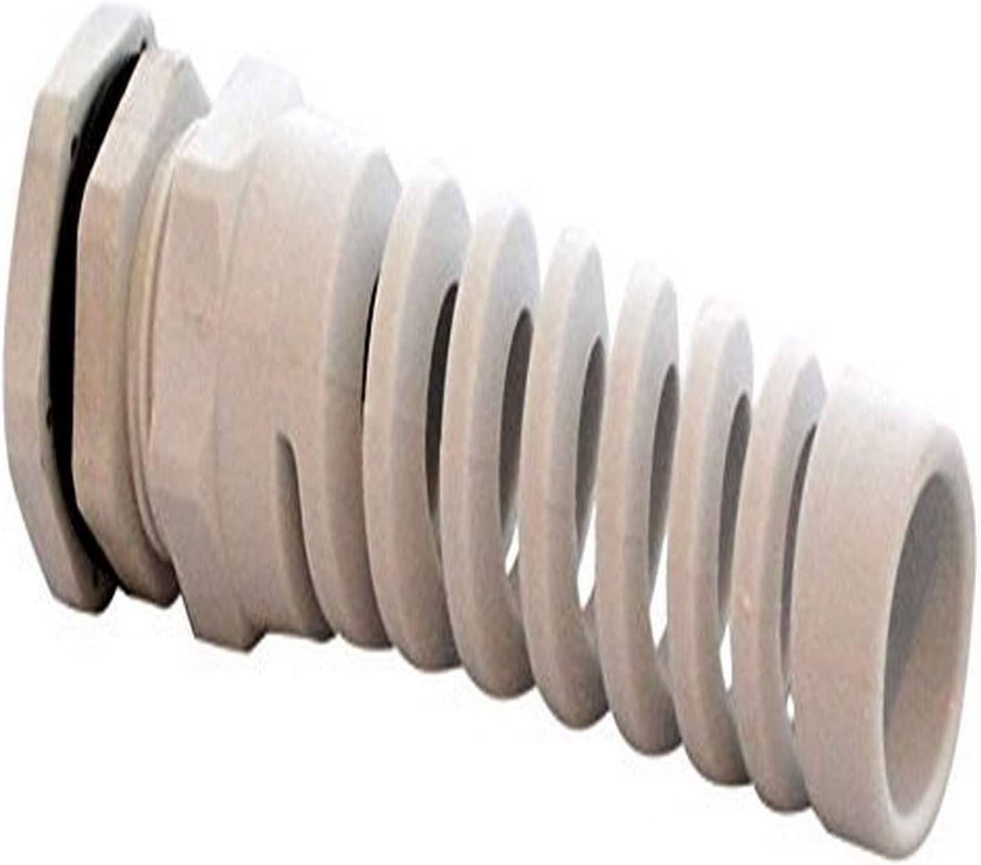 Grey BUD Industries IPG22221BPG IP66 TUV Bend Proof Nylon Cable Gland Fits Round Wire from 0.39 to 0.55