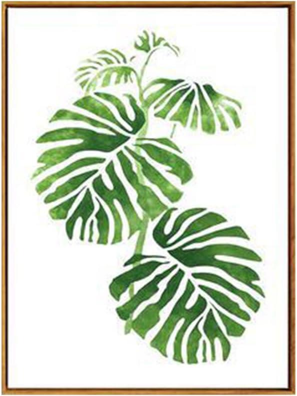 Cuadro conciso con diseño rural con hojas y plantas verdes, de AchidistviQ, pintura moderna, decoración de pared, 5#, 30cm x 40cm